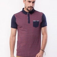 NEW LOOK Contrast Sleeve Polo Shirt - Buy Men's Burgundy Polo Shirt online in India | KOOVS