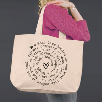 What Lies Within | Ralph Waldo Emerson | Canvas Tote Bag