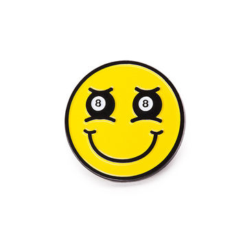 8-Ball Smiley Lapel Pin