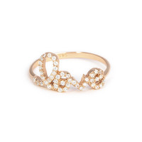 Crystal Love Ring
