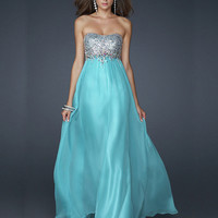 WowDresses — A-line Scoop Neckline Floor Length Sequins Prom Dress
