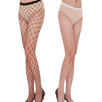 Fashion Women's Sexy Fishnet Pattern Pantyhose Tights Punk Stockings For Girls W1