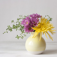 Dipped Vase in Yellow