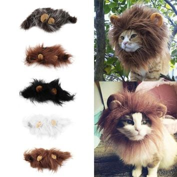 Cat Lion Hair Mane and Ears Head Cap Costume