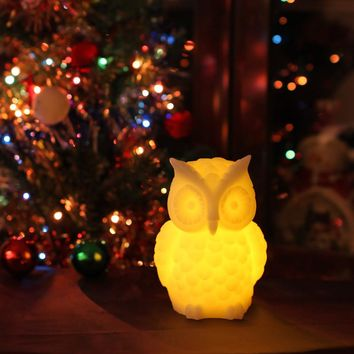 Wax Owl LED Flameless Candle