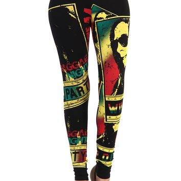 Bob Marley Reggae Nights Leggings - Black