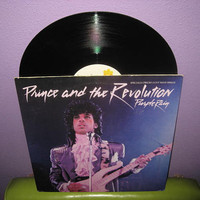 "Vinyl Record Prince and the Revolution - Purple Rain b/w God 12"" Single LP 1984 DJ Dance"