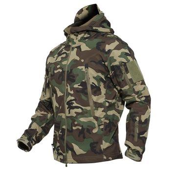 Dropshipping Outdoor Sport Tactical Military Jacket Men's Windproof Warm Coat  Hooded Army Camo Jacket Hunt Clothes