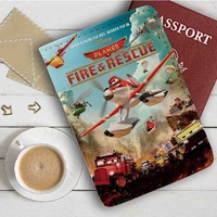 Disney Planes Fire And Rescue Leather Passport Wallet Case Cover