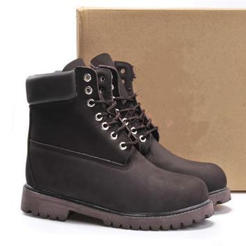Timberland Rhubarb boots for men and women shoes waterproof Martin boots lovers Coffee-1