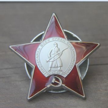 BADGE USSR Order of the Red Star Award Russian WWII Medal Rare dark color Soviet 3styles