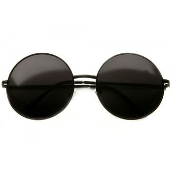 80s - Walker Large Circle Frame Sunglasses (more colors)
