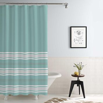 Waterproof Printed Shower Curtain Racer Stripe