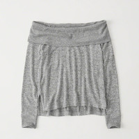 Womens Cozy Off-The-Shoulder Tee | Womens New Arrivals | Abercrombie.com
