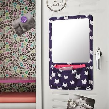 Gear-Up Purple Kitty Locker Mirror Pocket