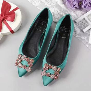 Roger Vivier Women Fashion Casual Pointed Toe High Heels Shoes-2