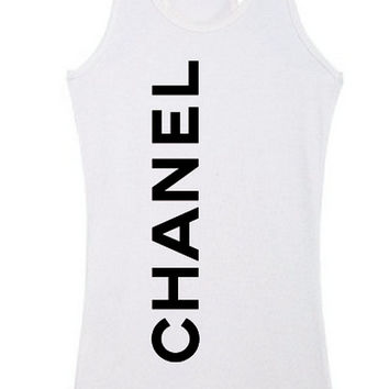 CHANEL TankTop. RacerBack. Fashion Wear. Womens Tanks