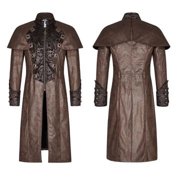 Punk Rave New Coffee color Rock Gothic Vampire Steampunk fashion copaly Style Coat