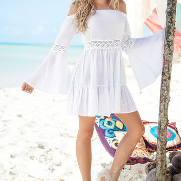 White Party Must Have White Summer Dress-Beachwear
