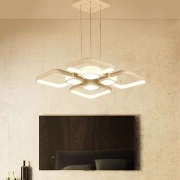 Modern led Pendant Chandelier for Kitchen Dining Room White Pendant Chandelier for Coffee House Bedroom Suspension Hanging light