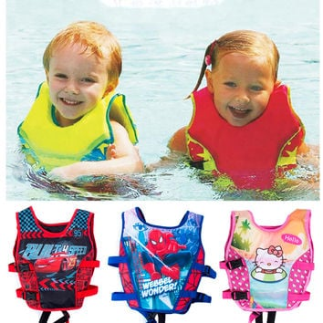 2-5 Years Child Swim Vest Baby Swim Trainer Fishing Life Jacket Circle Inflatable Flamingo Baby Float Swimming Pool Accessories