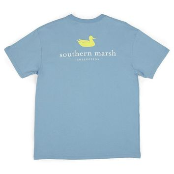 Authentic Tee in Breaker Blue by Southern Marsh