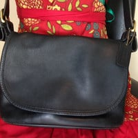 Black Leather Vintage  Coach 4150 SOHO Fletcher Shoulder Bag/ Purse Authentic
