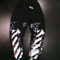 Off-White fireworks print sweatpants H-A-GHSY-1