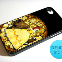 Beauty and The Beast Glass iPhone 4 / 4S Case