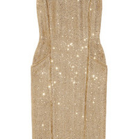MICHAEL Michael Kors Sequined metallic bouclé dress – 51% at THE OUTNET.COM