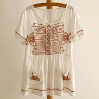 Tribe Embroidery Sweet Blouse