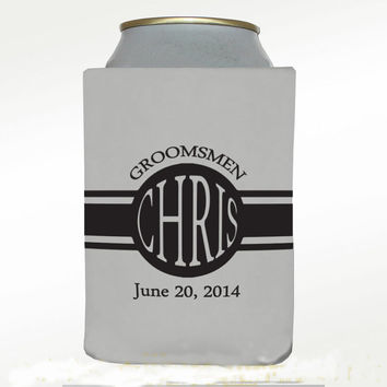 Wedding Koozie, Coozie, Bride, Groom, Wedding gift, Wedding favors, wedding registry, Custom Koozie, personalized, by VitalBridalKeepsakes