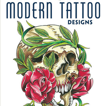 Modern Tattoo Designs Adult Coloring Book