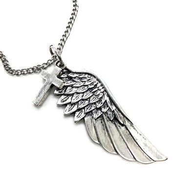 Cross Wing on chain Necklace