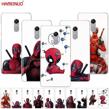 Deadpool Dead pool Taco HAMEINUO 3D Super Cool Marvel  Cover phone  Case for Xiaomi redmi 5 4 1 1s 2 3 3s pro PLUS redmi note 4 4X 4A 5A AT_70_6