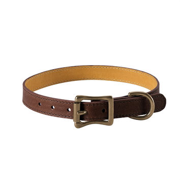 A Dog Collar Italian Leather | Brown