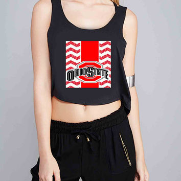 Ohio State Chevron for Crop Tank Girls S, M, L, XL, XXL *07*