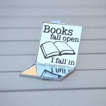 Gift for book lovers | Books fall open. I fall in. | Book worm, book club gift idea