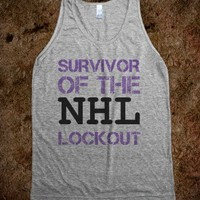 NHL lockout survivor  - t-shirts/tanks and more