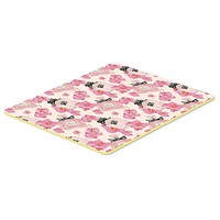 Watercolor Pink Flowers and Perfume Kitchen or Bath Mat 20x30 BB7510CMT