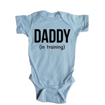 Daddy In Training Baby Onesuit