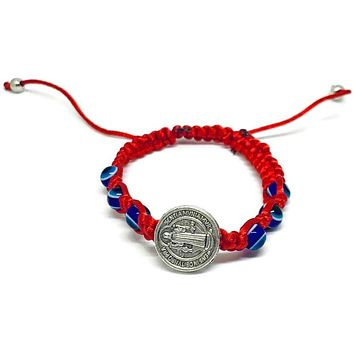 Saint Benedict Evil Eye Red Threads Bracelet