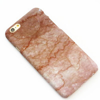 Champagne Hard Marble Texture iPhone 7 7Plus & iPhone 6 6s Plus & iPhone 5s se Case Cover +Gift Box