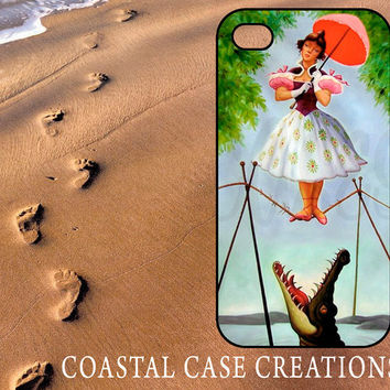 Disney Haunted Mansion Stretching Painting Tightrope Apple iPhone 4/5 Hard Plastic or Rubber Cell Phone Case Cover Original Trendy Design