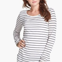 Junior Women's BP. Stripe Long Sleeve Tee