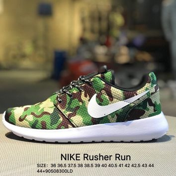 Nike roshe run couple light sports  leisure net surface breathable Rusher Run Olympic running shoes Camouflage