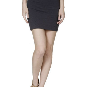 Solid Bandage Bodycon Mini Skirt
