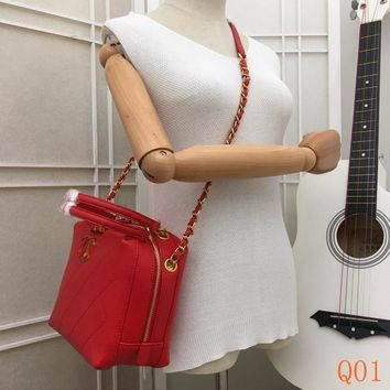 HCXX 19Aug 080 8186A Fashion Casual Lrage-Capacity Quilted Bag Chain Shoulder Handbag 20-17-11cm Red