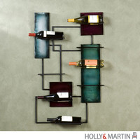 Holly & Martin 93-216-062-4-22 Santa Black Maria Wine Storage Wall Sculpture