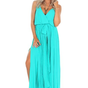 The Slit Maxi Green